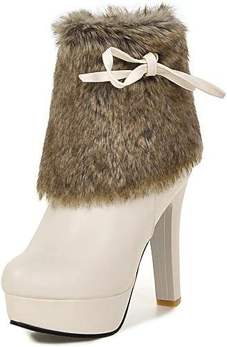 HOESCZS 2018 tamaño Grande 32-43 Pieles Reales Silberforma damen schuhe damen Botines Moda tacón Alto Fiesta de Invierno Stiefel damen schuhe