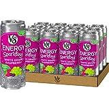 V8 +Energy Sparkling Healthy Energy Drink, Natural Energy from Tea, White Grape Raspberry, 12 Fl Oz...