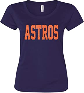 Astros or Any Team Name Ladies Glittery Shirt