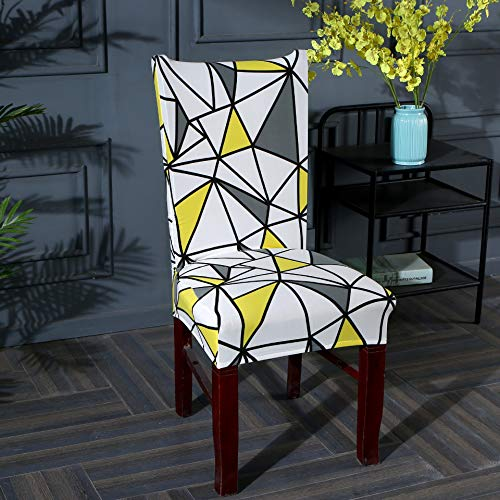 Four-piece chair cover universal chair cover elastic European-style one-piece chair cushion home hotel universal size colorful space