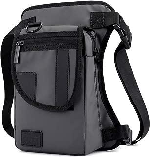 Mens Bag Motorcycle Riding Waterproof Waist Bag, Leg Bag Shoulder Bag, Outdoor Sports Bag, Large Capacity,Gray High capacity