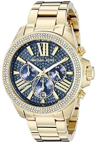 Relógio Michael Kors Mk6291 Dourado/Azul 43Mm