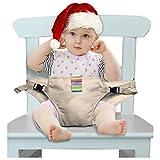 Der waschbare tragbare Reise Hochstuhl Booster Babysitz mit Riemen Kleinkind -Sicherheitsgurt Schätzchenspeicherung den Gurt (6 Farben) (khaki)
