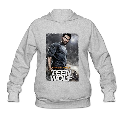JeFF Women's Teen Wolf Long Sleeve Sweatshirt Hoodies Ash XX-Large (US Size)