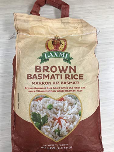 Laxmi AllNatural Brown Basmati Rice 10 Pounds
