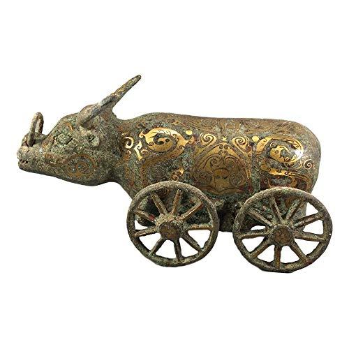 LAOJUNLU - Carro de buey de cuatro ruedas de bronce antiguo