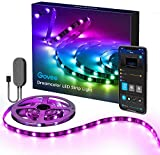 DreamColor LED Strip Lights with APP, Govee 6.56FT/2M USB RGBIC Light Strip Built-in Digital IC, 5050 RGB Strip Lights Color Changing with Music Waterproof Led Strip Lights Kit, LED TV Backlight Strip