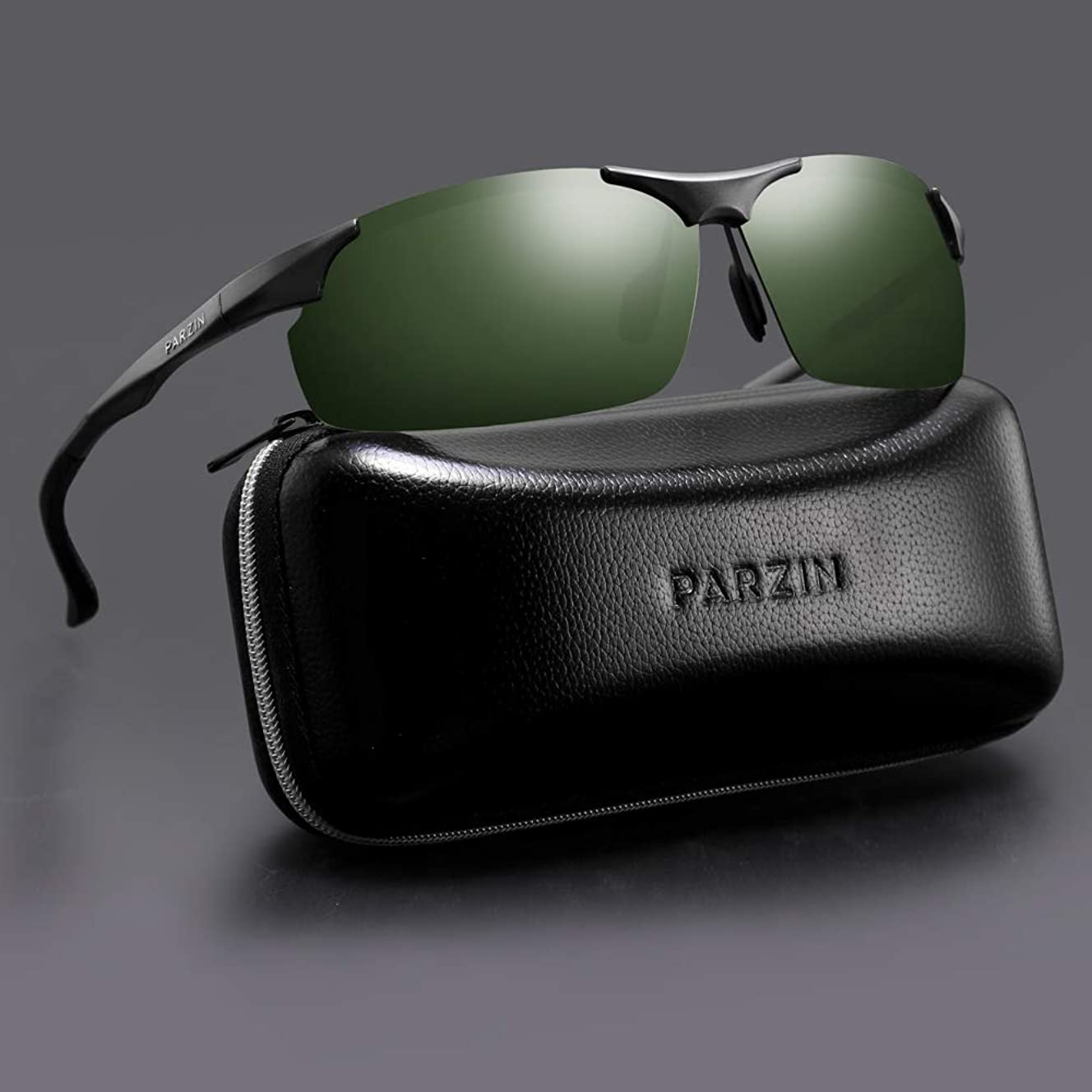 PARZIN Men Sport Sunglasses Polarized Ultra Light Goggles UV Protective for Cycling, Running, Driving, Fishing, Golf