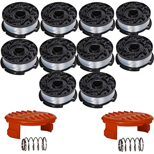 """HIFROM Replacement 30ft 0.065"""" Trimmer Line Autofeed Spool Cap and Spring for AF-100-3ZP Weed Eater (12 Pack)"""