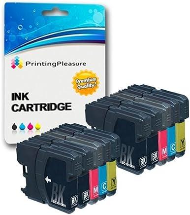 10 Compatibili LC1100 LC980 Cartucce d'inchiostro per Brother DCP-145C 165C 195C 197C 385C 585CW 6690CW MFC-250C 290C 490CW 5890CN 5895CW 6490CW 990CW J615W - Nero/Ciano/Magenta/Giallo, Alta Capacità