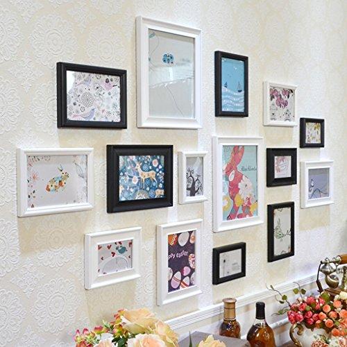 Partition d'étagère Simplicité moderne Idées de mode Photo Combinaison de mur Peintures décoratives en bois massif Chambre Mural Combinaison de peinture de salon moderne (Couleur : A)