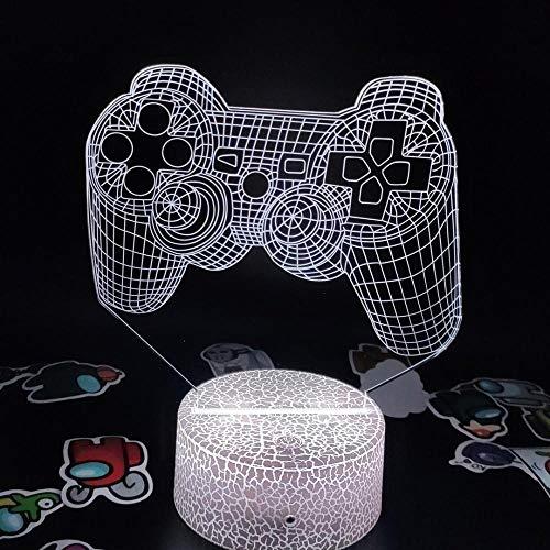 Luces de noche LED 3D Accesorios de Playstation Ps4 5 Xbox Gamepad Regalo creativo para amigos Decoración de escritorio de sala de juegos- C_7_Color_No_Remote