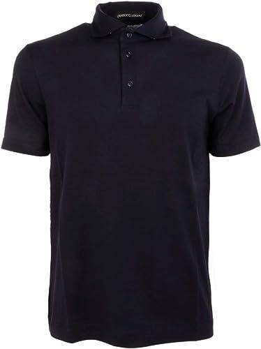 LAMBERTO LOSANI Homme H2810790616 Bleu Coton Polo