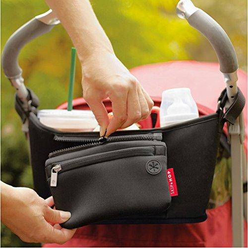 Dngdom Multi-functional-Organizer per borsa da passeggino, ben & di sementi per la preservazione di calore, compatibile con la maggior parte dei modelli per passeggino, ideale per forniture Diapering, bottiglie, Snacks, giocattoli, ecc.