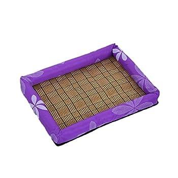 Kentop Nid Animaux Matelas Tapis Petite Coussin Matelas lit Chien Chat Animaux Lit Pet Cat Bed pour Chien Lapin Hamster Chinchilla Cochon d'Inde Animal lit 1PCS (Violet L 55 * 45 * 7cm)