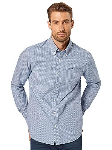 Scotch & Soda Nos Crispy Poplin Shirt Regular Fit Button Down Collar Camisa, Multicolor (Combo B 0218), Large para Hombre