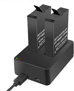 ENEGON Baterías (Paquete de 2) para Gopro Fusion y Cargador
