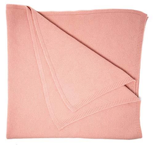 Graham Cashmere Babydecke, 100% Kaschmir, linke Maschen, groß, hergestellt in Schottland - rosa - soft pink