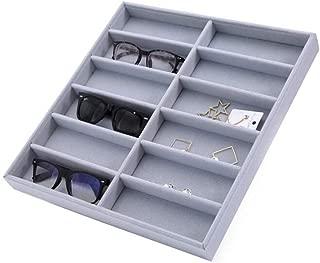 Gafas Pantalla Caja, Gafas Organizador Variedad Caja, Gafas de Sol Anteojos Funda de Almacenamiento, Gafas Almacenaje Estante Soporte Contenedor, Joyería Relojes Mostrar Funda Organizador Bandeja