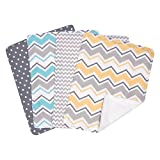 Trend Lab Zigzag Bouquet 4 Piece Burp Cloth Set