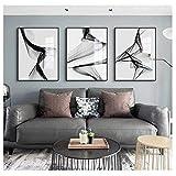 SXXRZA Leinwand Wandkunst 3x50x70cm kein Rahmen Abstrakte