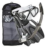 U.S. Divers Cozumel Snorkeling Set - Adult Mask, Proflex Fins, Splash Guard Snorkel + Gear Bag
