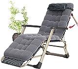 FXBFAG Tumbona, sillón plegable, tumbonas de gravedad cero, sillas de jardín reclinables de textoline ajustable (color : silla de salón + almohadilla de algodón de panal)