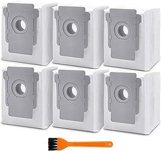 6 قطع غيار حقائب الأوساخ متوافقة مع روبوت رومبا i7 i7+ i7 Plus (7550) E5 E6 S9+ (9550) أكياس تنظيف أساسية لضخ الأوساخ الأو...