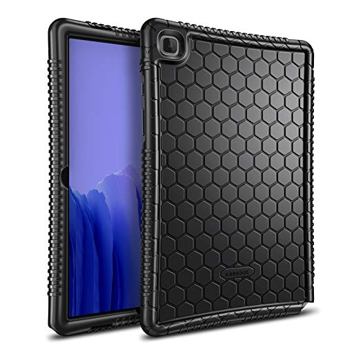 Fintie Silicone Case for Samsung Galaxy Tab A7 10.4'' 2020 Model (SM-T500/T505/T507), Honey Comb Series Kids Friendly Light Weight Shock Proof Protective Cover, Black