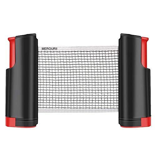 AILOVA Rete da Ping-Pong, Rete da Ping-Pong Regolabile A Scomparsa, Accessori da Gioco per Interni Indoor Adatti A Qualsiasi Tavolo