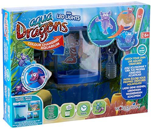 Aqua Dragons- Deluxe Colour Changing Juguete, Color azul (WORLD ALIVE 7002)
