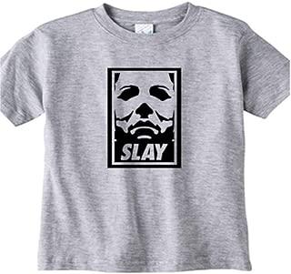 Michael Myers Slay Halloween Logo Kids Toddler Youth T Shirt