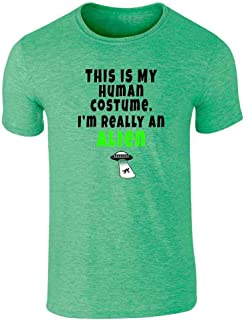 This is My Human I'm Really an Alien Costume Graphic Tee T-Shirt for Men