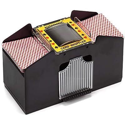 Casino Automatic Card Shuffler for Poker Games(2 Deck, 4 Deck, 6 Deck) (Plastic - 4 Deck)