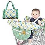 Sanmubo Shopping Cart Cover High Chair Cover, Printed Child Supermarket Trolley Dining Chair Harness...