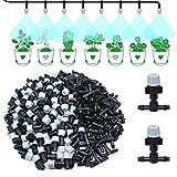 Kalolary Boquillas de nebulización aspersor, Boquilla atomizadora Tipo T articulaciones de rociador atomizador Cabezales de Spray para Flores de riego Hierba Verduras jardinería