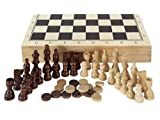 Aquamarine Games – Chess, Draughts and Backgammon in Case (Compudid CP1070)