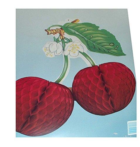 Wabendeko Kirsche 3D Papierfrucht (1) Papier Frucht