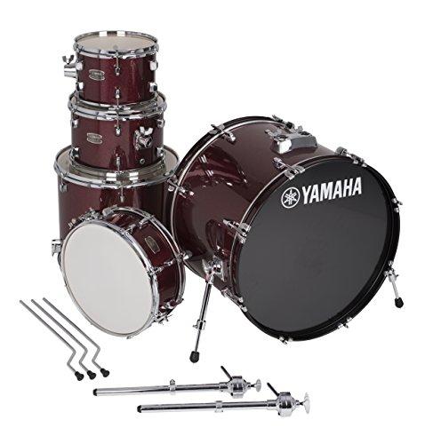 """Yamaha Rydeen 5pc Shell Pack with 22"""" Bass Drum, Burgundy Glitter"""