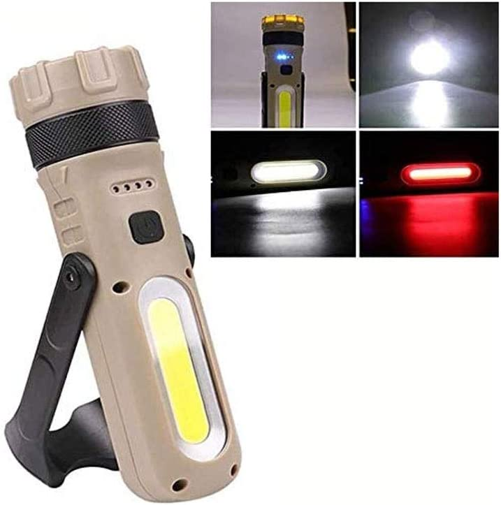 LKNJLL 30W + Ranking TOP7 L2 Built-in Battery Flashlight USB Foldable El Paso Mall W Glare