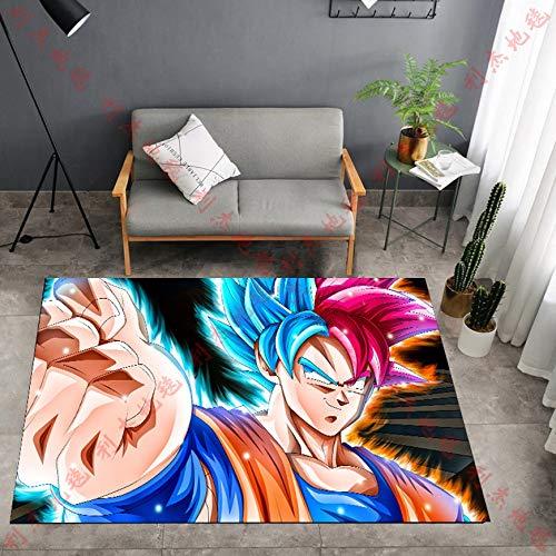 CXJC Una variedad de gráficos de dibujos animados Dragon Ball Mat estéreo, 160 * 100 * 0.6CM Plaza Salón Dormitorio Estudio Skid Pad, Nostálgico Infancia personaje de dibujos animados de la alfombra,