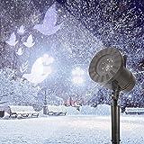 Uxsiya Luces de copo de nieve para exteriores, 1 juego de luces de baja potencia para bodas, centros comerciales para bares (sin control remoto)