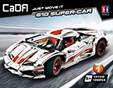 Italian Super-Car 1:10, weiß, 10-Zylinder, 1696 Teile (OHNE Motoren, kompatibel mit Lego Technic), C61018W