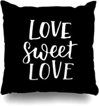 Ahawoso Throw Pillow Cover Lettering Brush Handwritten Quote About Love Valentines Calligraphic Date Day Drawn Graphic Design Home Decor Pillow Case Square Size 20 x 20 Inches Zippered Pillowcase