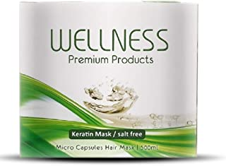Wellness Premium Products Micro Capsules Keratin Hair Mask for Dry Hair, 500ml (16.9 Ounce)