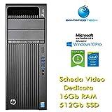HP Z440 Xeon Hexa Core E5-1620 v3 3.5GHz 16 Gb 512 Gb SSD Quadro K620 2Gb Windows 10 Pro mit neuem Simpaticotech MAR Microsoft Authorized Refurbisher (Ricondizion)