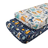 Babygoal Changing Pad Covers-Unisex Diaper Change Table Sheets for Baby Girls and Boys-Fits Changing Pads and Cradle Mattress 32'x16'x6' 2CNTW14-B
