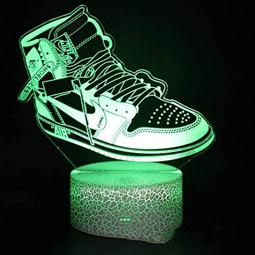 Preisvergleich Produktbild XHYYD Phantomlicht Led Nachtlicht, Mode Turnschuhe 16-Farben-Touch-Schalter Mit Usb-Stromversorgung,  Weihnachtsgeschenke Für Jungen,  Mädchen,  Kinder,  Dekorationsleuchten Für Familienzimmer