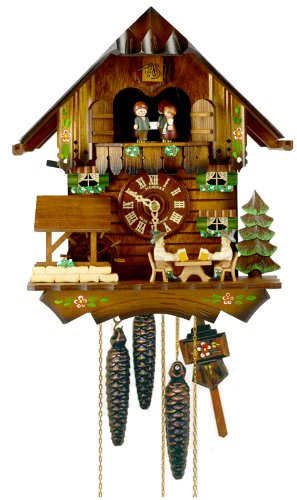 Schneider 12' Cuckoo Clock with 2 Beer Drinkers and a Water Wheel