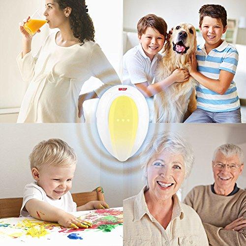 WLZP Répulsif Ultrason, Anti moustiques avec lumière de Nuit LED, sélection de Quatre Modes, Anti Cafard, Moustiques, Mouche etc, Ultra Silencieux, respectueux de l'environnement (Ensemble de 2)